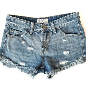 Free People | Dolphin Cutoff Jean Shorts